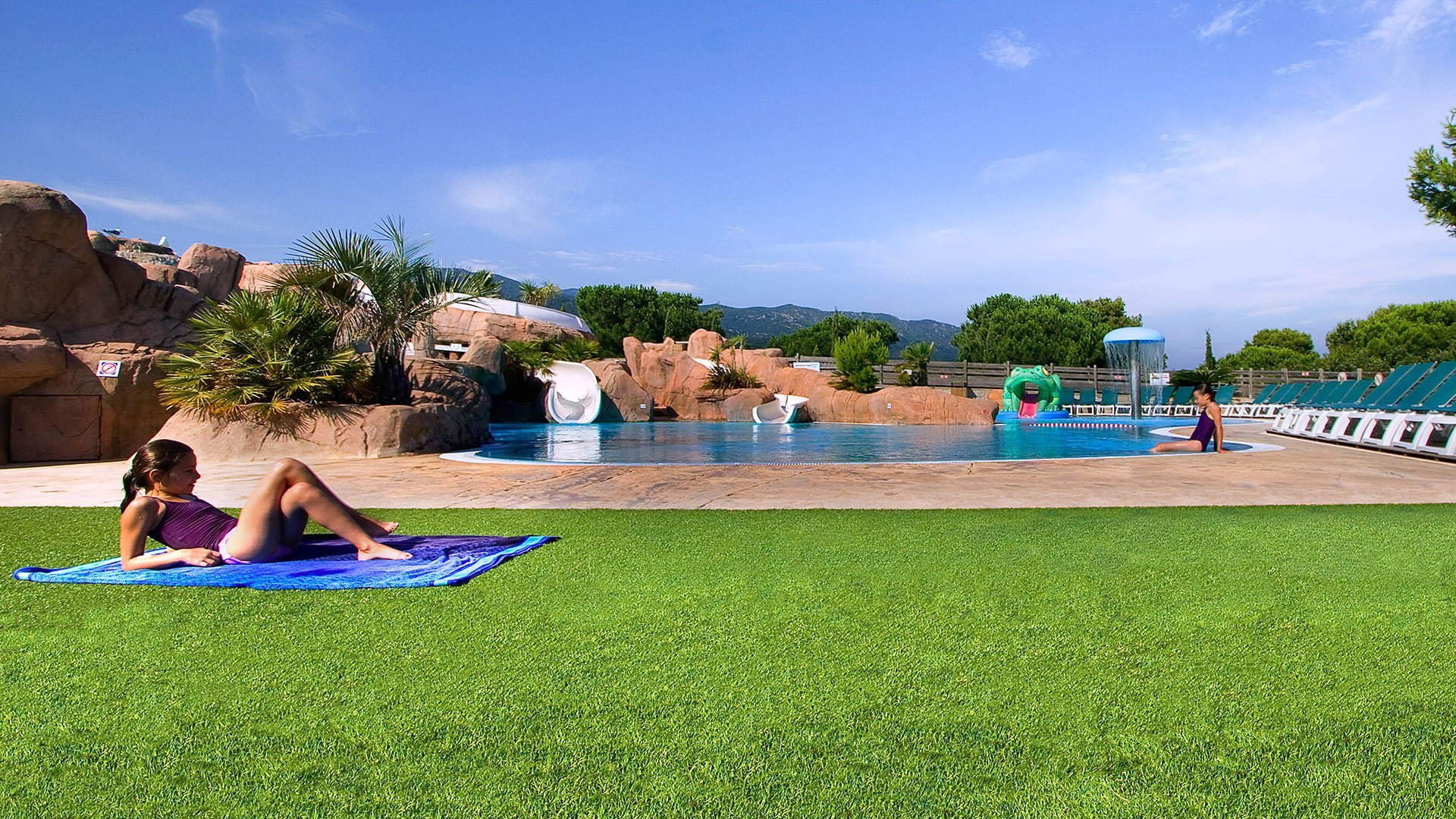 Campsite with water park in the Languedoc Roussillon