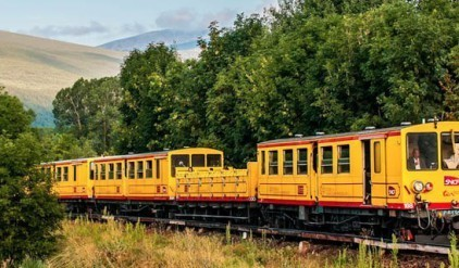 Best campsite of France near Collioure - The little yellow train